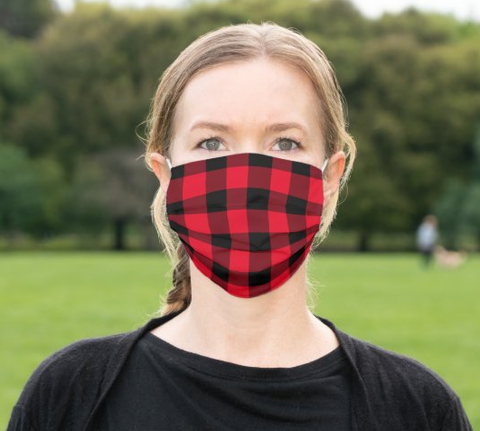 "Cloth Face Mask ""Buffalo Plaid"""