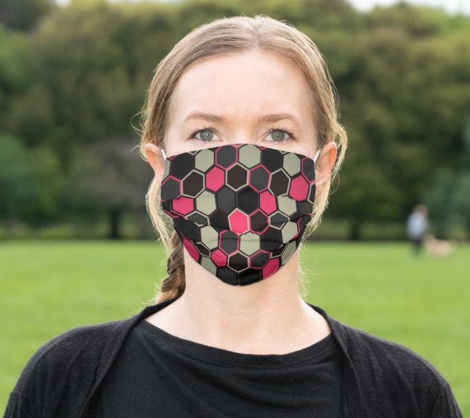 "Cloth Face Mask ""Hexagon"""