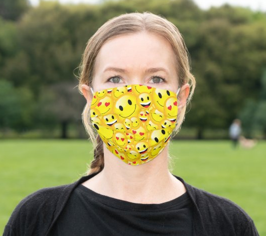 "Cloth Face Mask ""Emoji"""