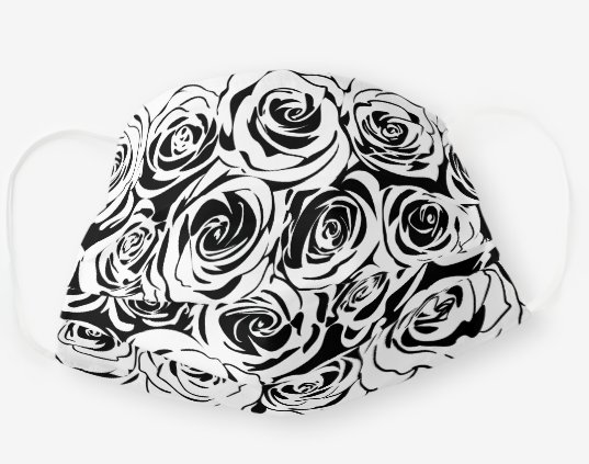 "Cloth Face Mask ""Roses"""