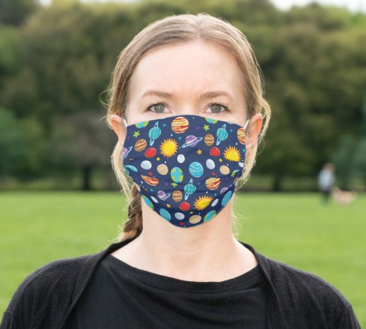 "Cloth Face Mask ""Planets"""