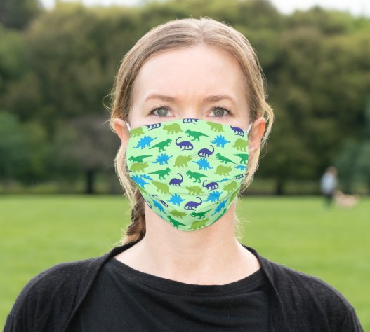 "Cloth Face Mask ""Dino Print"""