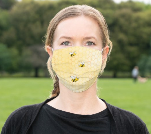 "Cloth Face Mask ""Honey Bee"""