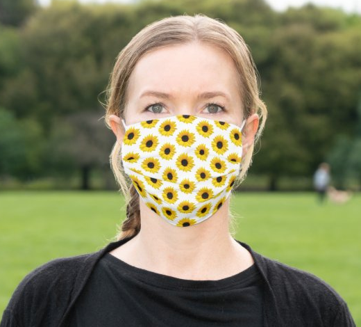 "Cloth Face Mask ""Sunflower"""