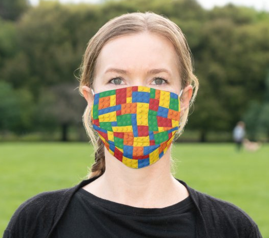 "Cloth Face Mask ""Building Blocks"""