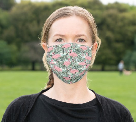 "Cloth Face Mask ""Pink Flamingo"""
