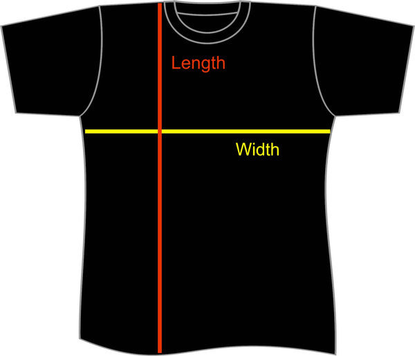Youth T-shirt Size Guide