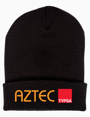 AZTEC Embroidered Cuffed Knit Beanie