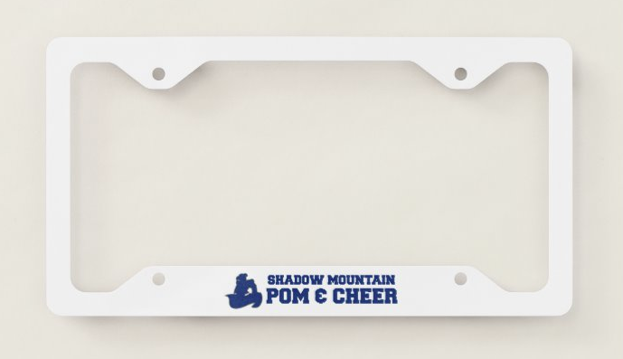 SMHS Pom & Cheer License Plate Frame