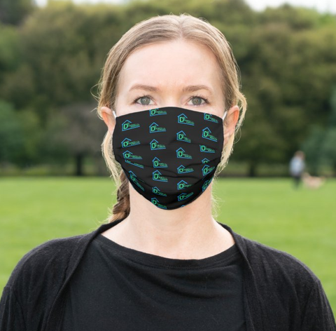 "D-Squared ""Patterned Logo"" Cloth Face Mask"