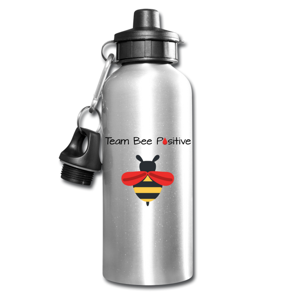 "LLS ""Team Bee Positive"" Water Bottle - silver"