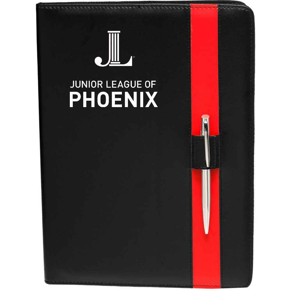 "JLP **LAST CHANCE** ""Logo"" Leather Refillable Notebook"