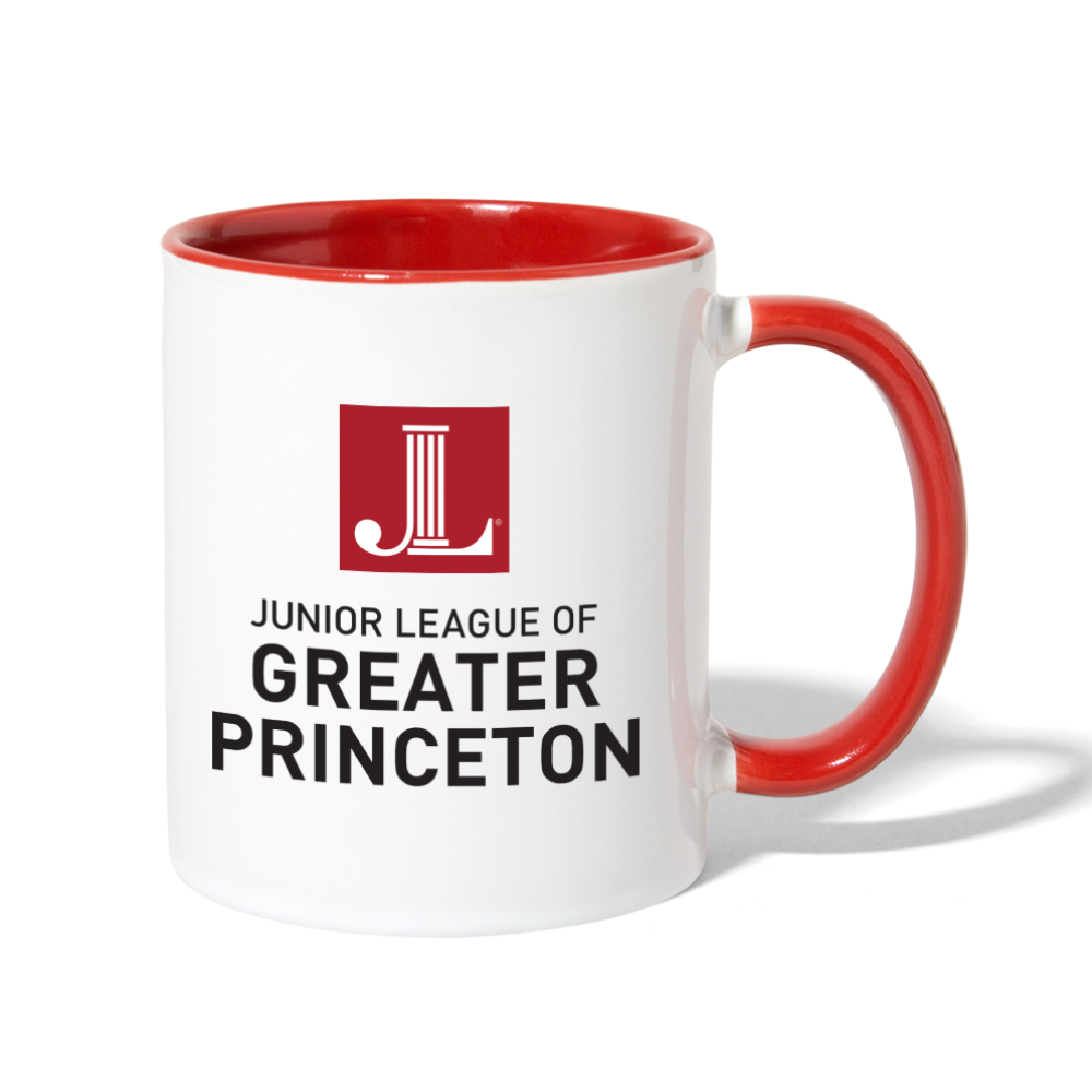 JL Greater Princeton Contrast Coffee Mug - white/red