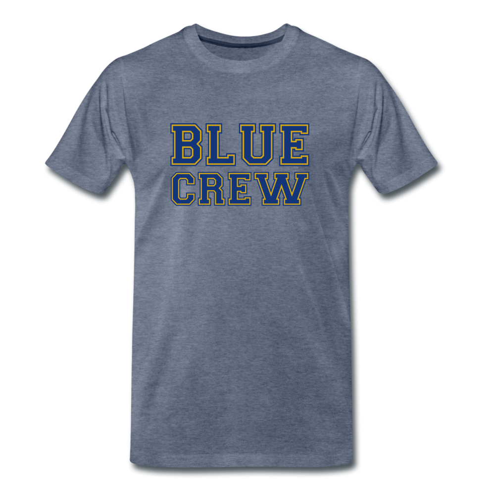 "SMHS Pom & Cheer Unisex ""Blue Crew"" T-shirt - heather blue"