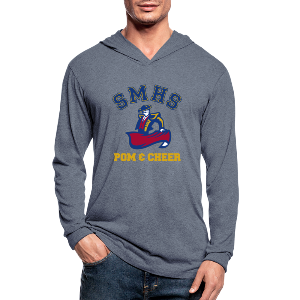 SMHS Pom & Cheer Unisex Lightweight Pullover Hoodie - heather blue