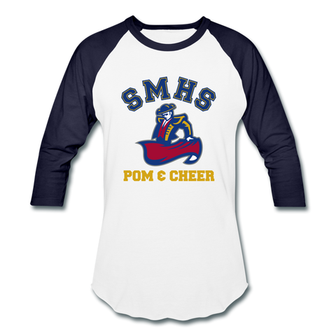 SMHS Pom & Cheer Unisex Raglan T-shirt - white/navy