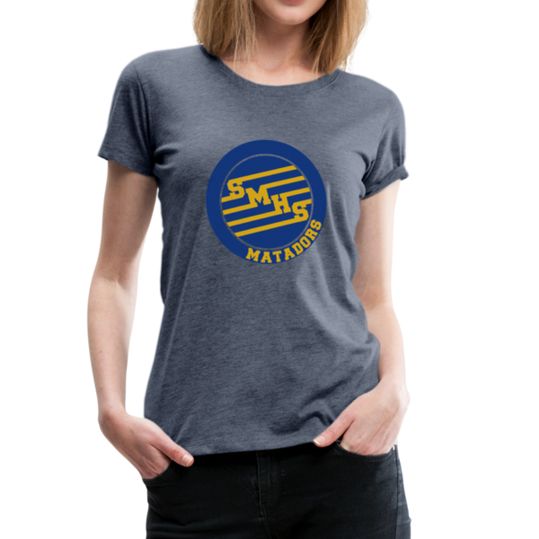 "SMHS *NEW* Women's ""Initials"" T-shirt - heather blue"