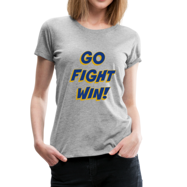 "SMHS Women's ""Go, Fight, Win"" T-shirt - heather gray"