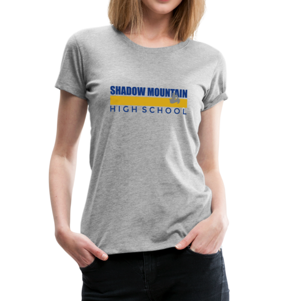 "SMHS Women's ""Color Stripe"" T-shirt - heather gray"