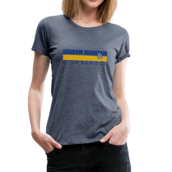 "SMHS Women's ""Color Stripe"" T-shirt - heather blue"