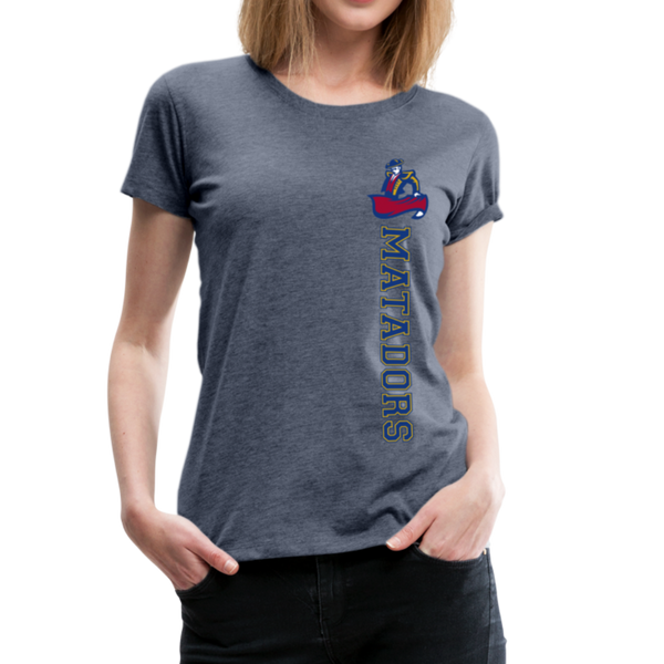 "SMHS Women's ""Stretch Logo"" T-shirt - heather blue"