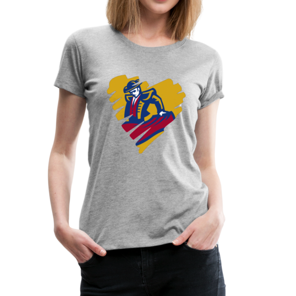 "SMHS Women's ""Heart"" T-shirt - heather gray"