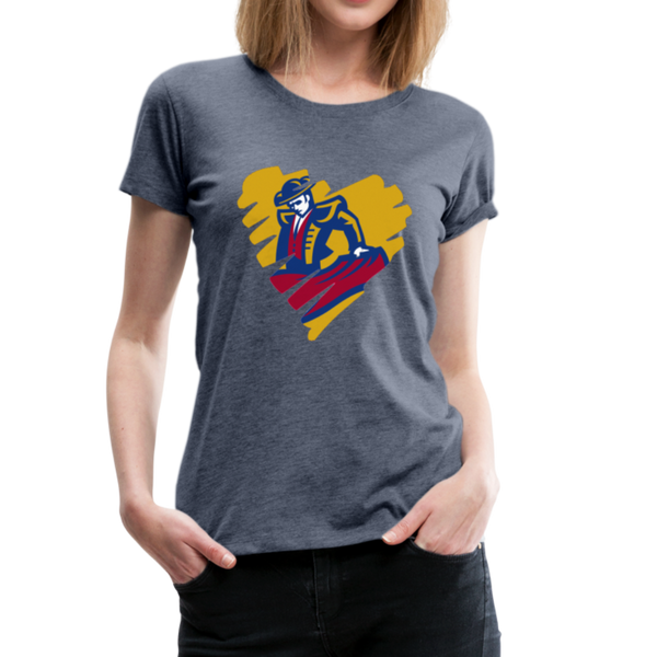 "SMHS Women's ""Heart"" T-shirt - heather blue"