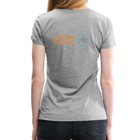 "Joyride Society ""Logo"" Women's Premium T-Shirt - heather gray"
