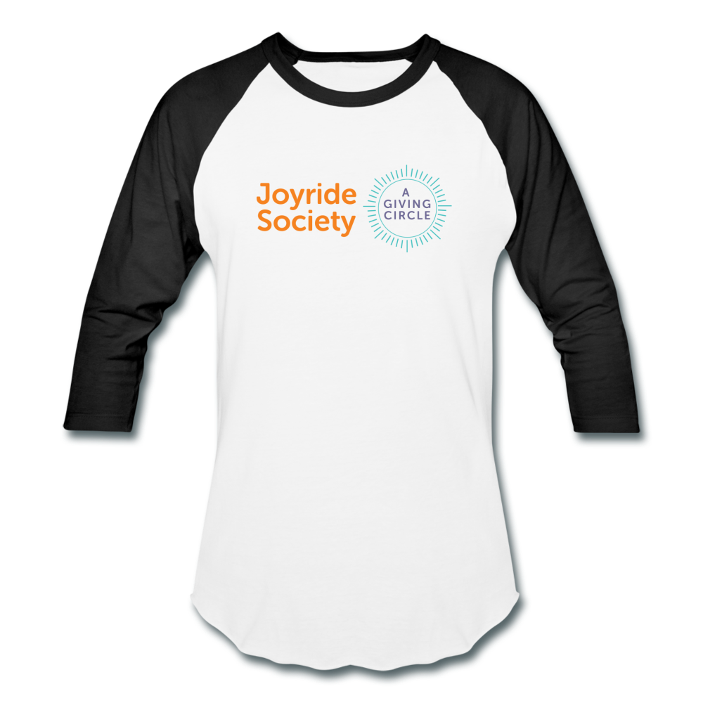 "Joyride Society ""Logo"" Unisex Baseball T-Shirt - white/black"