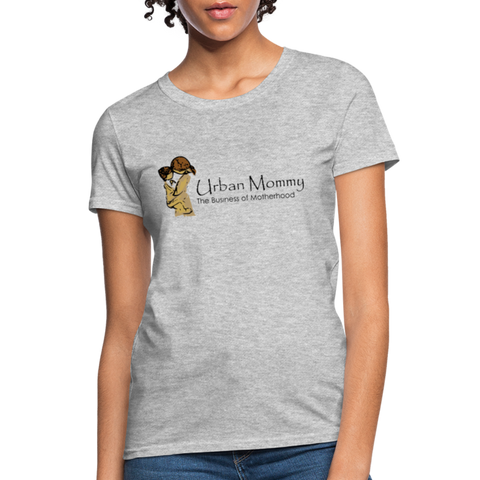 "Urban Mommy ""Logo"" Women's T-Shirt - heather gray"