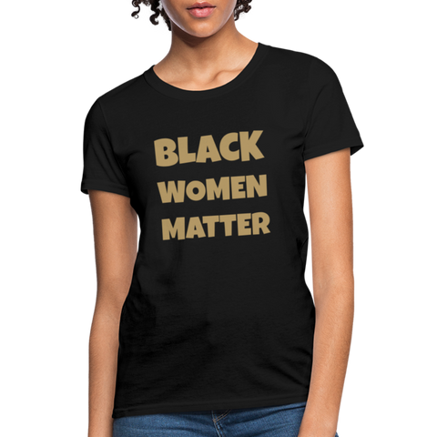 "Urban Mommy ""Black Women Matter"" Women's T-Shirt - black"