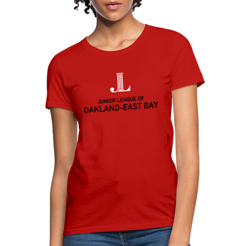 "JL Oakland-East Bay ""Logo"" Women's T-Shirt - red"