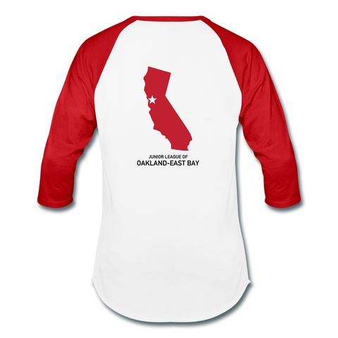 "JL Oakland-East Bay ""Volunteer State"" Baseball T-Shirt - white/red"