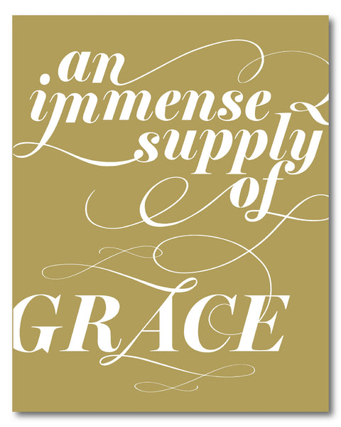 Immense Supply of Grace