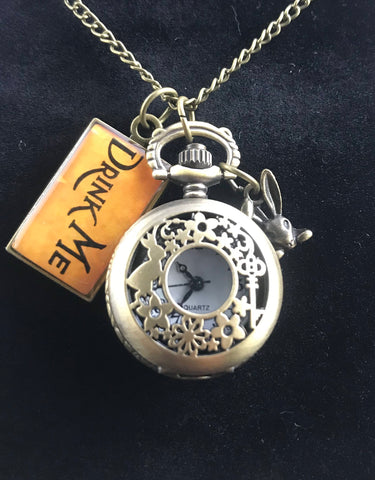 Alice In Wonderland Watch Pendant