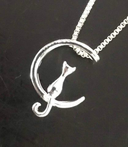 Cat-in-the-Moon Necklace