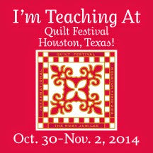 La Todera teaching at Quilt Festival Houston