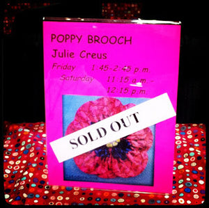 Proud Poppy Fabric Flower class sold out at Chicago Quilt Festival