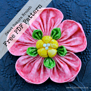 Free Pattern! Sweet Sakura Fabric Flower Pattern