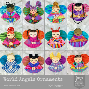 World Angels Christmas Ornaments- Celebrate Diversity!!