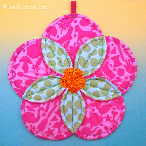 Press Alert- Plumeria Potholder Pattern!