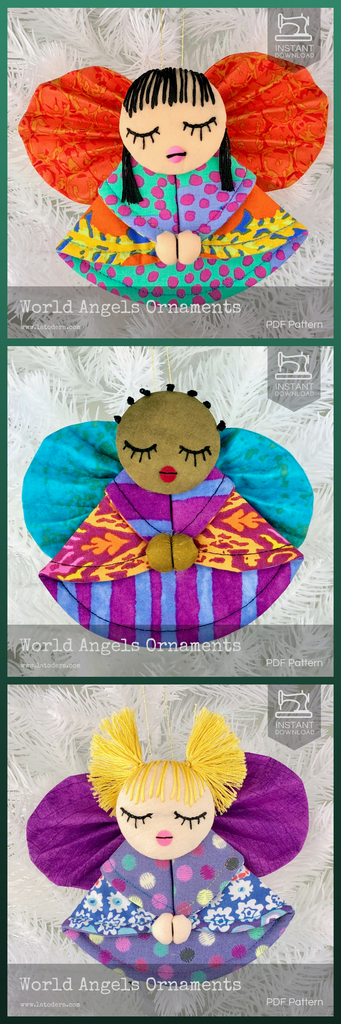World Angel Christmas Ornaments by La Todera