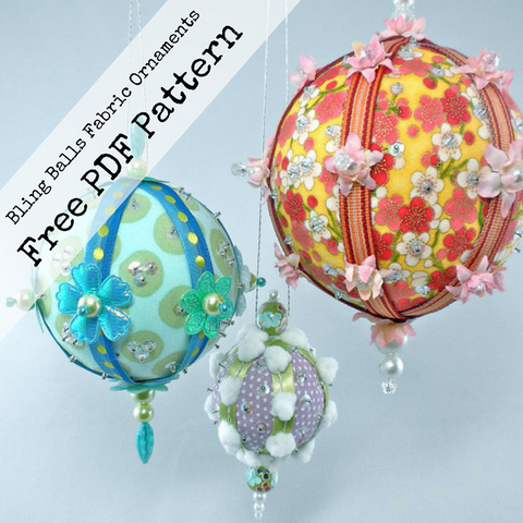 Free Christmas fabric ornament PDF tutorial by La Todera