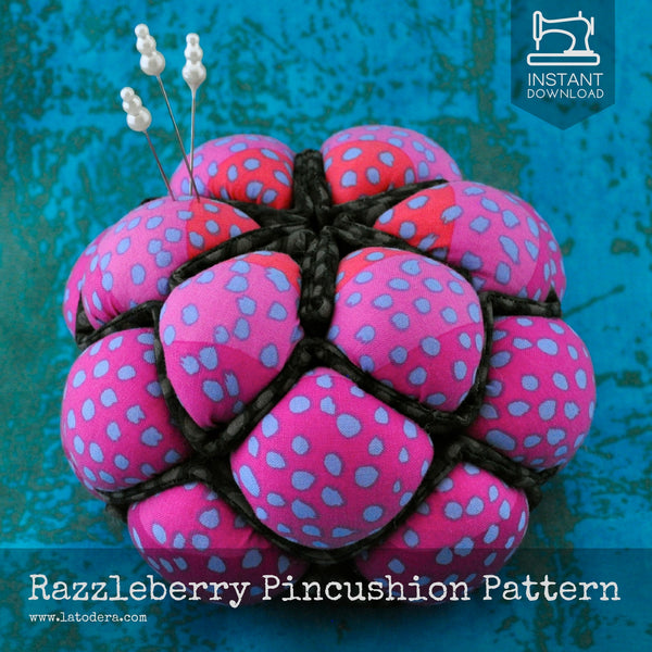 Razzleberry Pincushion Pattern- Instant Download