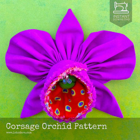 Corsage Orchid Pattern- Instant Download