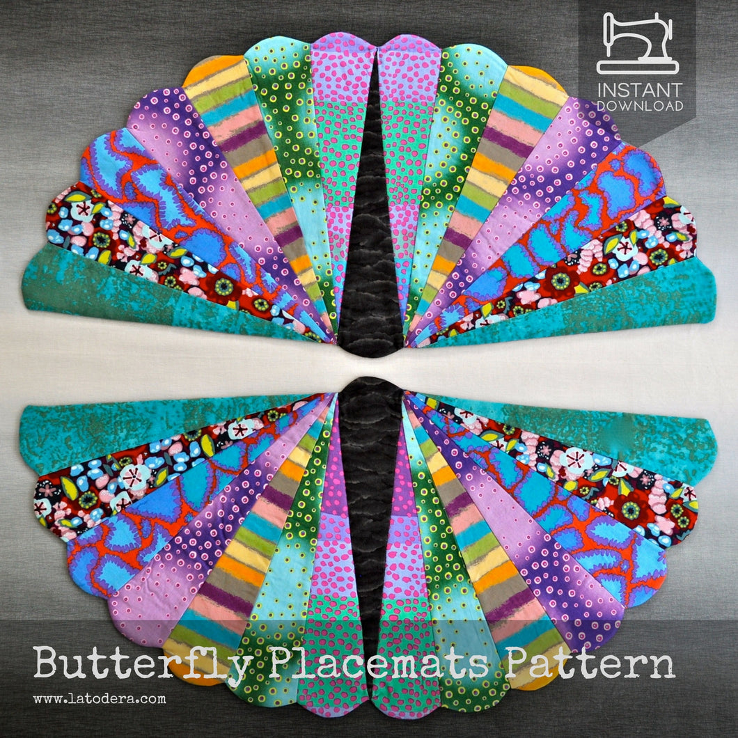 Butterfly quilted placemats pattern by La Todera
