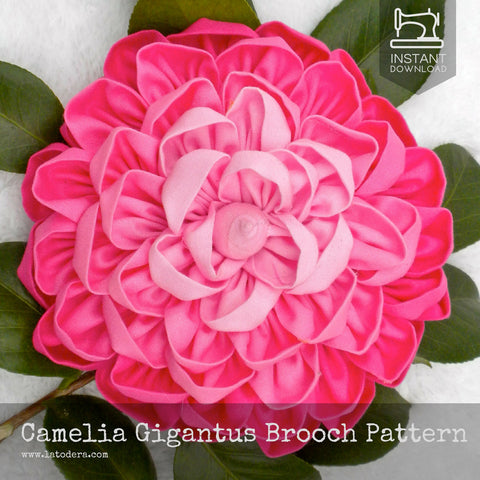 Camelia Gigantus Brooch Pattern- Instant Download - La Todera