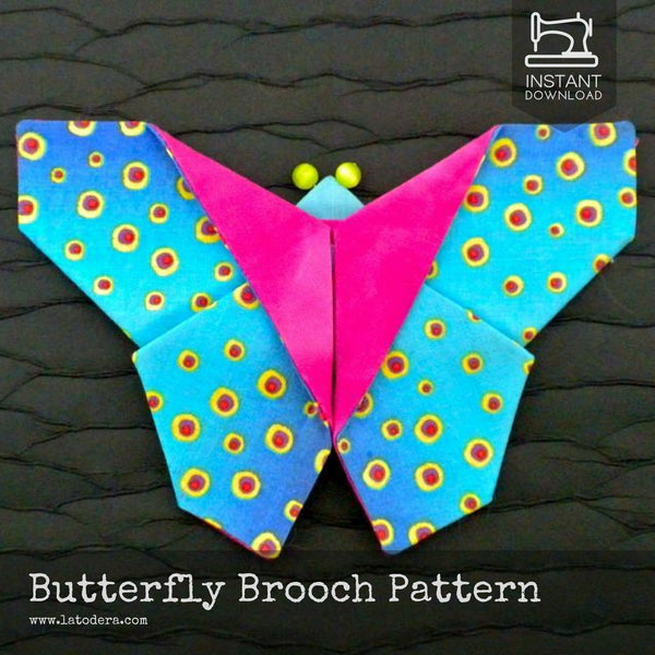 Fabric Butterfly Brooches Pattern- Instant Download