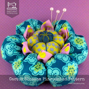 Cactus Blossom Pincushion Pattern- Instant Download - La Todera