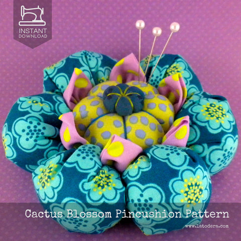 Cactus Blossom Pincushion Pattern- Instant Download